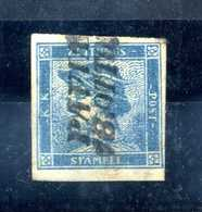 1851 LOMBARDO VENETO Giornali USATO N.1 Margini Integri / Firmato Diena - Lombardo-Vénétie