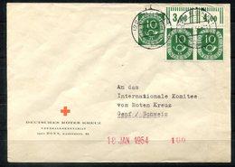 4530 - BUND - Mi.128 (3), Dabei OR-Paar - Brief An Das Rote Kreuz In Genf - Briefe U. Dokumente
