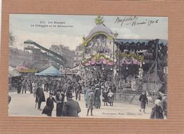CPA Fête Foraine, Les Manèges, Le Toboggan Et Les Balançoires, Animée, 1906 - Ferias
