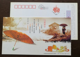 Chinese Traditional Tung Oil Paper Umbrella,China 2007 Guangdong Post Mother's  Day Greeting Pre-stamped Card - Mother's Day