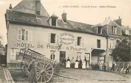 CPA 76 Seine Maritime Bosc Le Hard (Harc) Route De Rouen Hotel Philippe - France