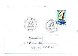 Lettre Cachet Nantes Poste Dans Whitbread - Marcophilie (Lettres)