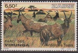 Parc National Des Viranga - ZAIRE - Faune: AntIlope Topis - N° 1101 ** - 1982 - Zaïre