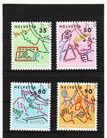 LKA363 SCHWEIZ 1988 Michl 1381/84 Used / Gestempelt SIEHE ABBILDUNG - Schweiz