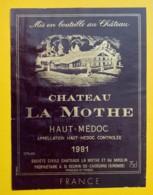 10188A - Château La Mothe 1981 Haut-Médoc - Bordeaux