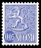FINLAND 1974, M-63 Definitive PHOSPHOR Lion 0,05 Type II HaQ** - Finlandia
