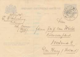 Nederlands Indië - 1933 - 5 Cent Cijfer, Briefkaart G54 Van LB TAKENGON Naar Den Haag / Nederland - Niederländisch-Indien