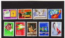 LKA374 SCHWEIZ 1980/81 Michl 1180/83 + 1191/95 Used / Gestempelt SIEHE ABBILDUNG - Schweiz