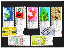 LKA375 SCHWEIZ 1988 Michl 1364/68 + 1376/79 Used / Gestempelt SIEHE ABBILDUNG - Schweiz