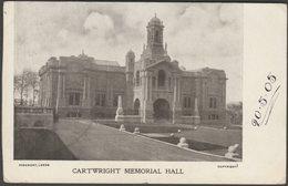 Cartwright Memorial Hall, Bradford, Yorkshire, 1905 - Rosemont Postcard - Bradford