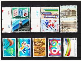 LKA376 SCHWEIZ 1989/90 Michl 1397/01 + 1409/12 + 1415/16 Used / Gestempelt SIEHE ABBILDUNG - Schweiz