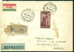 V9973 ITALIA REPUBBLICA 1948 Precursore FDC Aerogramma Raccomandato Affrancato Con Campidoglio 1000 L. ISOLATO, Da Milan - 6. 1946-.. Republic