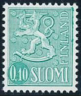 FINLAND 1976, M-63 Definitive PHOSPHOR Lion 0,10 Type I EGpQ** - Finlandia