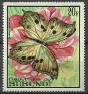 Burundi - 1968 Salamis Aethiops (Butterflies Series) 20f MH*  SG 374  Sc 252 - Burundi