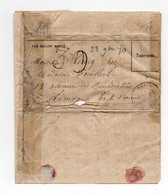 !!! PRIX FIXE : BALLON MONTE ACCIDENTE LA VILLE D'ORLEANS CERTAIN POUR LIMOGES; TIMBRE TOMBE PAR IMMERSION - Marcophilie (Lettres)