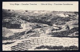 CPA ANCIENNE- FRANCE- MILITARIA- PLAGE DE LA PANNE- COTE DE VIMY- LES TRANCHÉES CANADIENNES EN GROS PLAN- ANIMATION - Guerre 1914-18