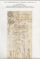 TIMBRES FISCAUX DE FRANCE CONNAISSEMENT RESTAURATION 1828 TIMBRE ROYAL 35 C - Fiscales