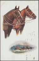 Horses, Military Gun Team, 1917 - Tuck's Oilette Postcard - Horses