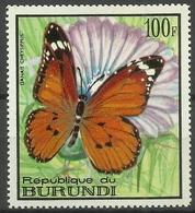 Burundi - 1968 Danais Chrysippus (Butterflies Series) 100f MH*  SG 376  Sc 254 - Burundi