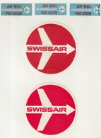 ETIQUETTES A BAGAGES  : SUISSE . SWISSAIR . - Baggage Etiketten
