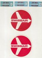 ETIQUETTES A BAGAGES  : SUISSE . SWISSAIR . - Baggage Labels & Tags