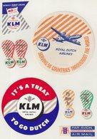 ETIQUETTES A BAGAGES  : HOLLANDE . KLM . - Baggage Labels & Tags