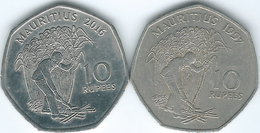 Mauritius - Republic - 10 Rupees - 1997 (KM61) & 2016 (KM61a) - Mauritius