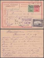 Belgique - Emission 1915 EP 10c + COB 137 + 145 Exprès Bruxelles 30/04/1921(DD) DC2718 - 1915-1920 Alberto I