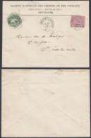 """Belgique - Lettre 1889  COB 46 + TG12 Entête """" Sociéte Nationale Des Chemins De Fer Vicinaux (DD) DC2726 - 1884-1891 Léopold II"""