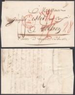 """Belgique - Lettre 1845 De Liège Vers Wolhen """" WD """" En Rouge (DD) DC2731 - 1830-1849 (Belgique Indépendante)"""