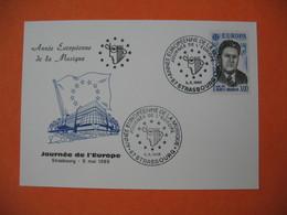 Entier Postal - Carte Postale Journée De L'Europe Strasbourg 5 Mai 1985 -Année Européenne De La Musique N° 91 - Entiers Postaux