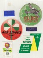 ETIQUETTES A BAGAGES  : IRLANDE . AER LINGUS . - Étiquettes à Bagages