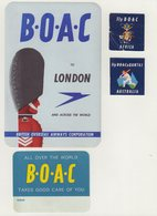 ETIQUETTES A BAGAGES  : GRANDE - BRETAGNE . B.O.A.C . - Baggage Etiketten