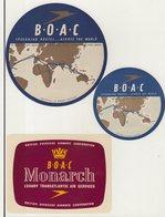 ETIQUETTES A BAGAGES  : GRANDE - BRETAGNE . B.O.A.C . - Baggage Labels & Tags