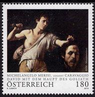 Austria - 2019 - Art - Caravaggio - David With Goliath Head - Mint Stamp - 1945-.... 2nd Republic