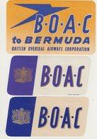ETIQUETTES A BAGAGES  : GRANDE - BRETAGNE . B.O.A.C . - Aufklebschilder Und Gepäckbeschriftung