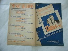 SPARTITO MUSICALE SONO TRE PAROLE ( Neri - Buzà ) OST UN CATTIVO SOGGETTO 1934 - Musica & Strumenti