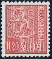 FINLAND 1974, M-63 Definitive PHOSPHOR Lion 0,20 Type II BoQ** - Finlandia