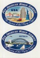 ETIQUETTES A BAGAGES  : USA . PAN AMERICAN WORLD AIRWAYS . - Étiquettes à Bagages