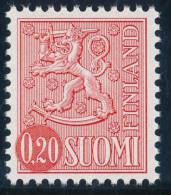 FINLAND 1975, M-63 Definitive PHOSPHOR Lion 0,20 Type II EGpQ** - Finlandia