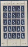 SARRE 1956 Au Profit Des œuvres Populaires N° YT 358-360 En Feuilles Complètes De 25 Ex. **MNH - 1947-56 Allierte Besetzung