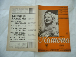 SPARTITO MUSICALE TANGO DI RAMONA LORETTA YOUNG. - Altri