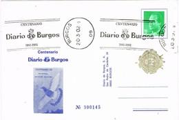 32153. Tarjeta BURGOS 2002. Centenario Diario De Burgos - 1931-Hoy: 2ª República - ... Juan Carlos I