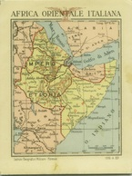 AFRICA ORIENTALE - CARD MAP - SOMALIA - KENYA -ERITREA - ETHIOPIA -  SAUDI ARABIA - YEMEN - 1936 (BG3096) - Postales