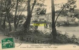 29 Audierne, à Travers Les Pins De Loquéran, Le Pont Et Le Quai, Carte Pas Courante Affranchie 1912 - Audierne