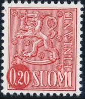 FINLAND 1977, M-63 Definitive PHOSPHOR Lion 0,20 Type II HapQ** - Finlandia