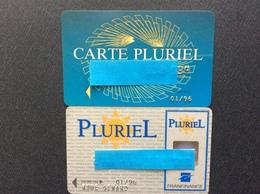 2 CARTES DE CRÉDIT  FRANFINANCE  Cartes Pluriel - Cartes De Crédit (expiration Min. 10 Ans)
