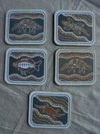 Collection 5 Sous-verres Art Aborigène Souvenir D'Australie - Obj. 'Remember Of'