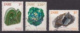 Ressources Minières - ZAIRE - Minéraux - Malachite, Bournonite, Cassitérite - N* 1120-1124-1125 - 1983 - Zaïre
