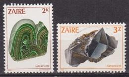 Ressources Minières - ZAIRE - Minéraux - Malachite, Cassitérite - N* 1120-1125 - 1983 - Zaïre